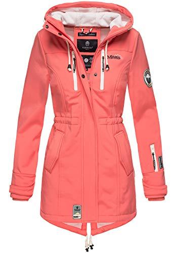 Marikoo Damen Winter Jacke Winterjacke Mantel Outdoor wasserabweisend Softshell B614 (Gr. XL/Gr. 42, Coral)