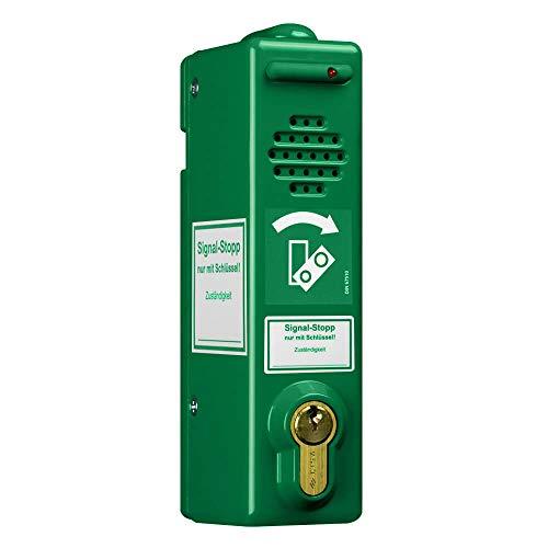 Fluchttürwächter gleichschließend, Türwächter 80 dB, grün