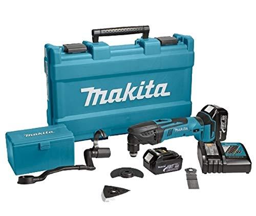 Makita DTM51RFJX1 - Cortador de lijadora multifunción (18 V, 3 Ah, iones de litio, incluye accesorios)