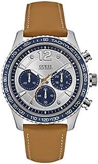ساعة رياضية للرجال من جيس، هيكل من الستانلس ستيل، مينا ابيض اللون، كرونوجراف - W0970G1