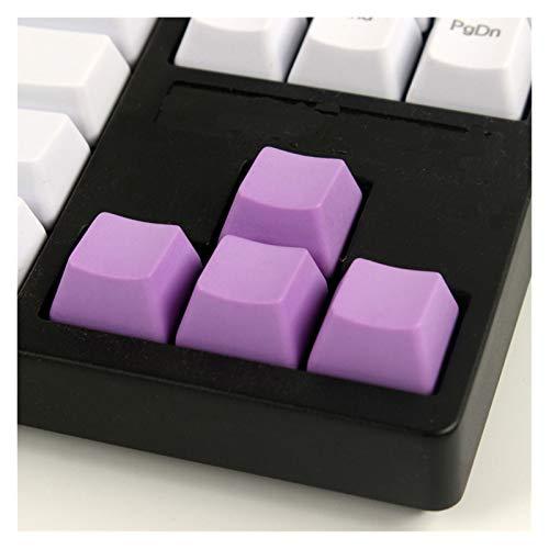 juqingshanghang1 4 STÜCKE KEYCAPS PBT-Leere Kenner für mechanische Gaming-Tastatur Bunte Schlüsselcaps Richtungs-Pfeil-Tastencaps Geeignet für Computerperipheriegeräte