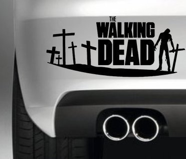 THE WALKING DEAD ZOMBIE CAR BUMPER STICKER FUNNY BUMPER STICKER CAR VAN 4X4 WINDOW PAINTWORK DECAL GRAPHIC