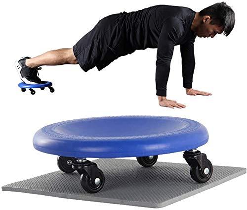 FANLIU 2 Pack 4-Rad-Coaster Bauchmuskeln Exerciser, Ab Kern und Total Body Roller Übung, 360 Grad, leicht zu tragen for Haus, Fitnessraum, mit Kniematte