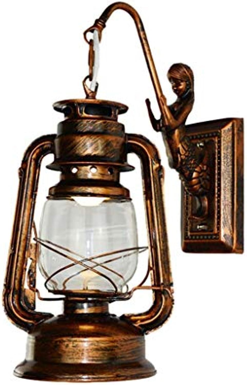 Wandleuchte aus Eisen Wandlampe Auenleuchte Wasserdicht Lampe Lampe Lampe Lampe Lampe Antik Lampe Retro Wandleuchte 110-240v 60w Wohnzimmer Schlafzimmer Bar Corridoio Balcone B