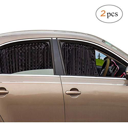 ZATOOTO Parasoles para Coche Sombrillas para Ventanas(2 Piezas), Cortinas Magnéticas para Boquear los Rayos UV y el Calor, Negro