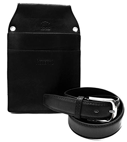 Flevado kelner riem met colt, houder, holster voor de gastronomie, riemlengte en tas naar keuze. (125 cm buffelcolt)