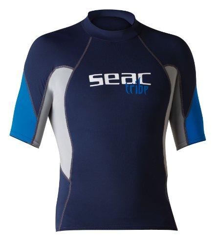 Seac RAA Short EVO Camiseta para Snorkeling y Natación con Protección UV, Hombre, Azul Claro, L