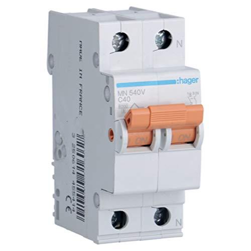 Hager MN540V Interruptor automático magnetotérmico, Blanco