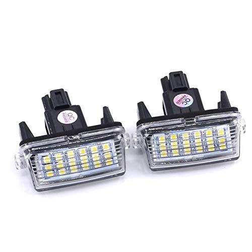 For accesorios del coche Corolla Camry Yaris Verso Prius C Ractis Vitz Avensis 2pcs del carnet de conducir de la placa luces blancas sin error de LED Lámparas Número luces del coche