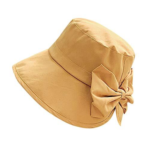 RISTHY Gorro de Pescador Elástico Sombrero de Playa Color Sólido Sombrero de Sol al Aire Libre Ala...