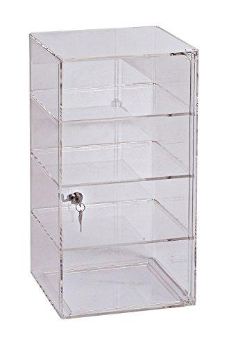 SSWBasics 3-Shelf Acrylic Tower Display Case - (Removable Shelves) - (Lock & Key)