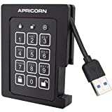 Apricorn Aegis Padlock 480 GB SSD 256-Bit, FIPS 140-2 Level 2 Validated Ruggedized USB 3.0 Encrypted External Portable Drive