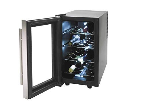 Lacor - 69078 - Armario refrigerador 8 Botellas Inox Line 70w 25Litros