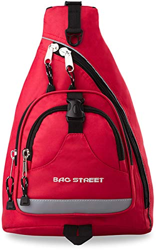 Bag Street sportlicher Rucksack Einarmrucksack Sporttasche Freizeittasche (rot)