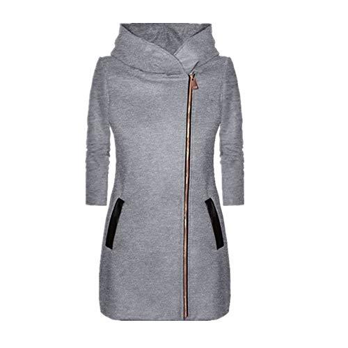 Abrigo de mujer Slim Chaqueta de otoño e invierno chaqueta de calle, manga larga, costura chaqueta