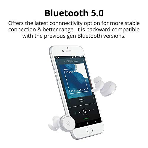 Cuffie Bluetooth Sport 5.0, Tronsmart Auricolari Wireless Hi-Fi Stereo con Microfono, Cancellazione del Rumore CVC 6.0, Impermeabili IPX5, Cuffiette Senza Fili per iPhone, Samsung, Huawei ecc.