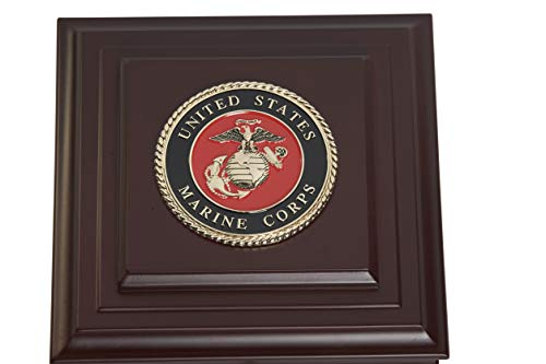 Allied Frame US Marine Corps Medallion Desktop Box