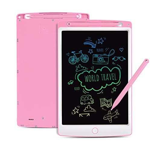 Tyhbelle LCD Writing Tablet, 10 Inch Colorful Digital ewriter Electronic Graphics Tablet Memory Lock Portable Writing Board Handwriting Pad Drawing Tablet for Kids Home School Office (Pink)