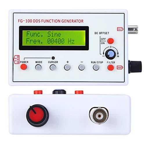 Okuyonic Medidor de frecuencia sinusoidal 1HZ-500KHz Generador de Funciones de Fuente estándar Alta precisión para Ajuste de Pulso de sonda para atenuadores de osciloscopio