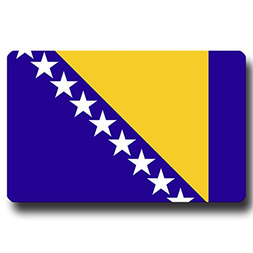 Kühlschrankmagnet Flagge Bosnien Herzegowina - 85x55 mm - Metall Magnet mit Motiv Länderflagge