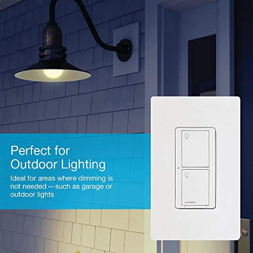 Lutron Caseta Smart Home Switch, Works with Alexa, Apple HomeKit, Google Assistant   6-Amp, for Ceiling Fans, Exhaust Fans, LED Light Bulbs, Incandescent Bulbs and Halogen Bulbs   PD-6ANS-WH   White