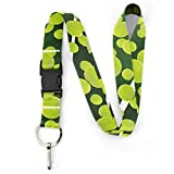 Buttonsmith Tennis Premium Lanyard - with Buckle and Flat Ring - Made in The USA