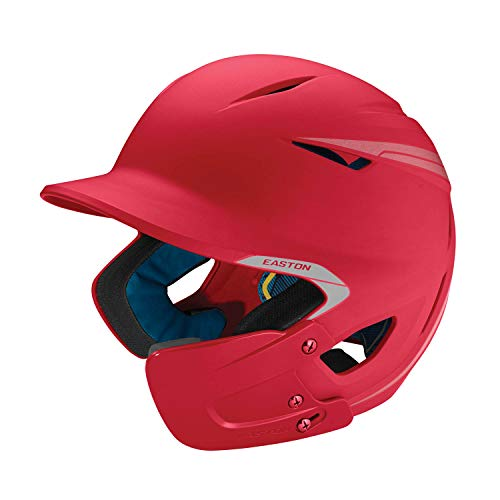 EASTON PRO X Baseball Batting Helmet with JAW GUARD | Right Handed Batter | Junior | Matte Red | 2020 | Multi-Density Impact Absorption Foam | High Impact Resistant ABS Shell |BioDRI Liner