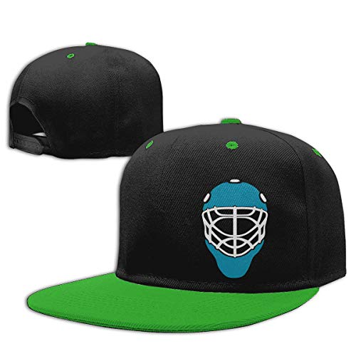 MIANZI Boys Girls Trucker Hat. Ice Hockey Mask Goalie Helmet Blue Flat Bill Baseball Cap Hip-Hop