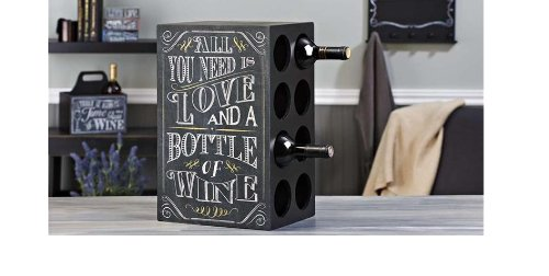 Gift Craft All You Need is Love Chalkboard Wine Rack