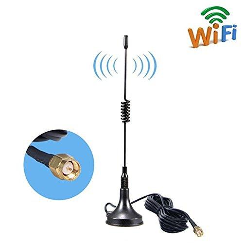 Aigital Antenna 4G LTE Antenna 11dBi SMA Connettore Maschio 2G 3G 4G gsm Antenna omnidirezionale WiFi Segnale Amplificatore con Cavo SMA 3m per Router WiFi 4G LTE Hotspot -Magnet Mount