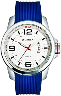 Curren Men's Analog Rubber Band Watch 8174