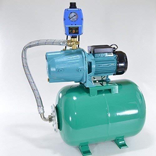 Profi Hauswasserwerk 50 Liter Druckkessel + Pumpe JY1000 Leistung: 1100W mit Edelstahlwelle, Fördermenge: 3600l/h mit thermischen Schutzschalter + Steuerung.