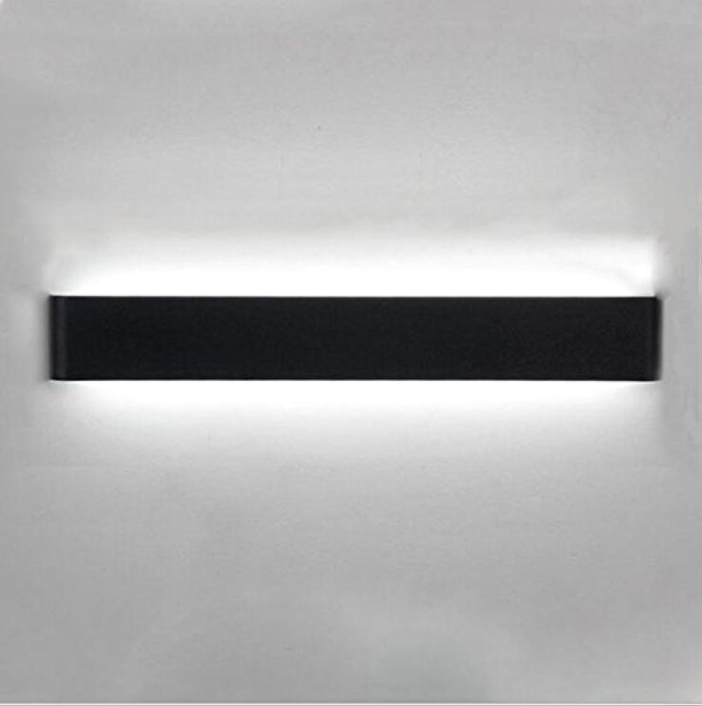 Knopftyp Aluminium LED Rechteckige Streifen Schlafzimmer Wandleuchte Einfach Wohnzimmer Spiegel Scheinwerfer (Farbe   Weies Licht-14w 41cm)
