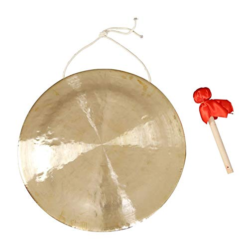 Bronze Chau Gong, chinesische Kupfer Feng Gong mit Holz Beater (Size : 80cm/31.5inch)