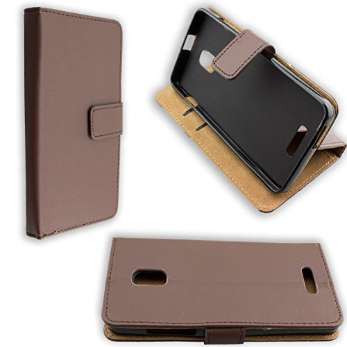 caseroxx Handy Hülle Tasche kompatibel mit Alcatel One Touch Pop Star 5022D Bookstyle-Case Wallet Case in braun