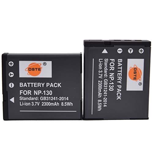 DSTE 2-Pack Ersatz Batterie Akku for Casio NP-130 Exilim EX-H30 EX-H30BK EX-H35 EX-ZR100 EX-ZR200 EX-ZR300 EX-ZR400 EX-ZR410 EX-ZR510 EX-ZR700 EX-ZR1000 EX-ZR1200 EX-ZR1500 EX-ZR2000 EX-ZR3500 Kamera