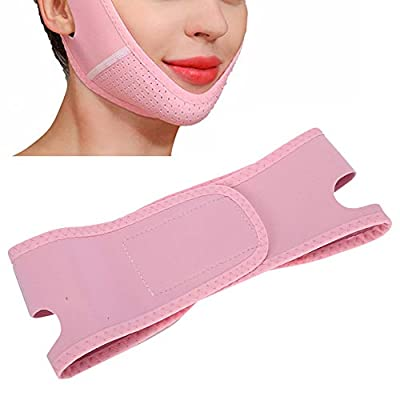 Anti Wrinkle Face Mask Band, V-Line Chin Cheek Lift Up Band, Adjustable Breathable Face Tightening Lifting Belt Elastic Face Shaping Bandage from Zetiling