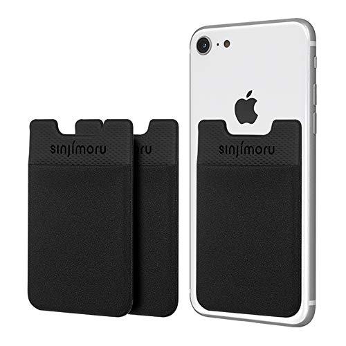 Sinjimoru B2 Smart Wallet (aufklebbarer Kartenhalter), verwendbar als iPhone Wallet/Handy Geldbeutel/Kartenetui für iPhones, iPhone Cases, Android Smartphones. Sinji Pouch Basic 2 [3 Stück].