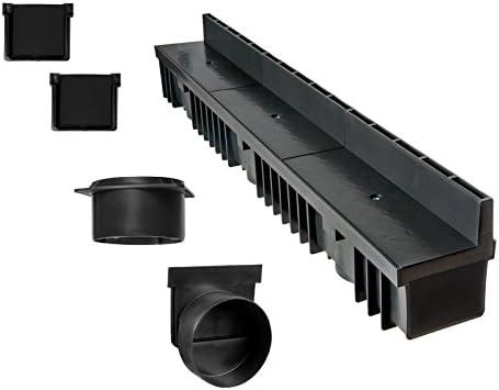 1 Rollma/ß 5 Meter Set 3 Schlitzrinne mit Schlitzaufsatz 105mm verzinkt 1 Zubeh/örset 1 Schnurwasserwaage