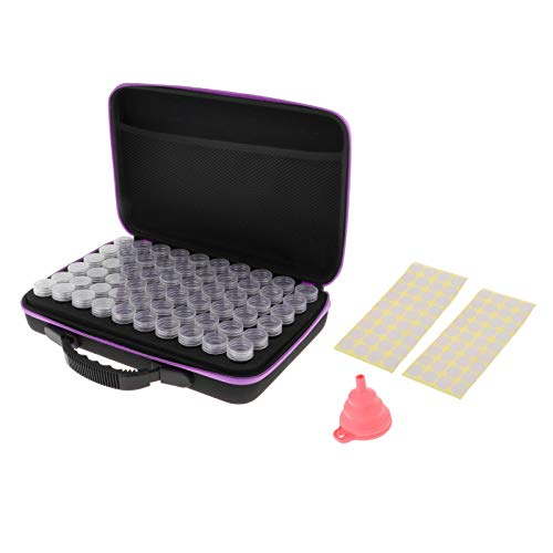Desconocido Generic Recipientes de Almacenamiento de Pintura de Diamante 30/60 Ranuras Kits de Herramientas de Caja de Pintura de Diamante - 60 Ranuras, Individual