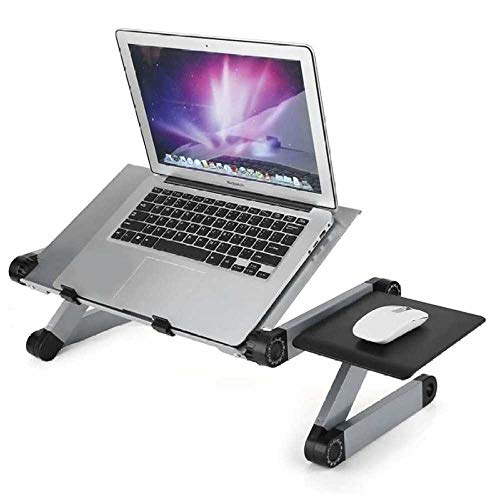 HJFGSAK Escritorio Mesa Plegable para Ordenador portátil, Escritorio Ajustable para Ordenador, Cama, sofá, Soporte para portátil con Bandeja para ratón, Polonia