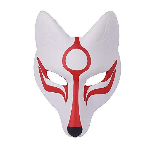BaronHong Halloween Karneval Kostüm Cosplay Fox Maske für Erwachsene Kinder (weiß, M)