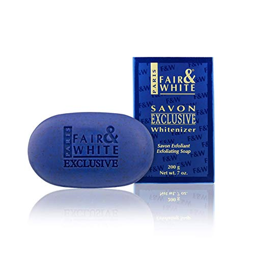 Fair & White Exclusive Exfoliating Soap, 200g / 7oz - Moisturizing Bar Soap Highly Effective For Face and Body