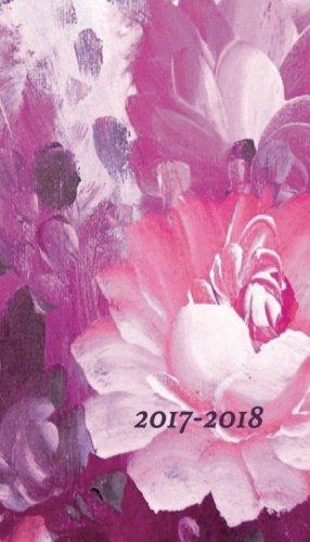 2017-2018 Planner: 18 month planner, pink floral, pocket calendar, 4x7 planner