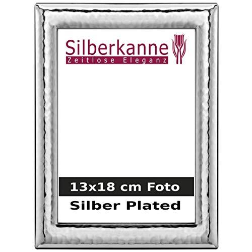 Silberkanne Monaco - Cornice portafoto con dorso in legno, 13 x 18 cm, argento placcato argento