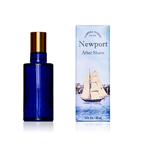 Caswell-Massey Newport After Shave – Soothing Aftershave Infused With Scents of Sandalwood, Citrus, and Cedar Made In USA, 3 Ounces