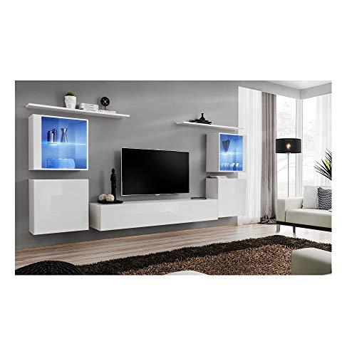 ASM Ensemble TV - 6 éléments - Blanc