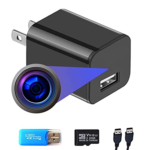 Smart Camera Charger with Motion Detection, 1080P Full HD Mini Spy Security Camera for Home Surveillance