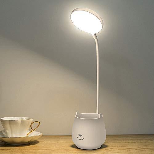 YMXLJJ Touch Control LED Schreibtischlampe Augenschutz, Leselicht-Studienlampen, Klassische Studienlampe, Nachttischarbeits-Bürolichter, mit 3 Beleuchtungsmodi, Kinder,Plug in + 1A Charging Head