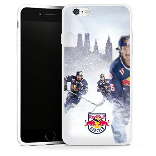 DeinDesign Silikon Hülle kompatibel mit Apple iPhone 6s Case weiß Handyhülle EHC Red Bull München Offizielles Lizenzprodukt Eishockey
